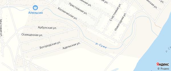 ДНТ Пригородное Плюс Краснодарская улица на карте села Поселье с номерами домов
