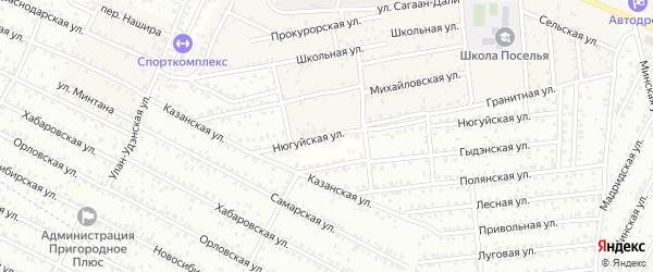 Нюгуйская улица на карте села Поселье с номерами домов