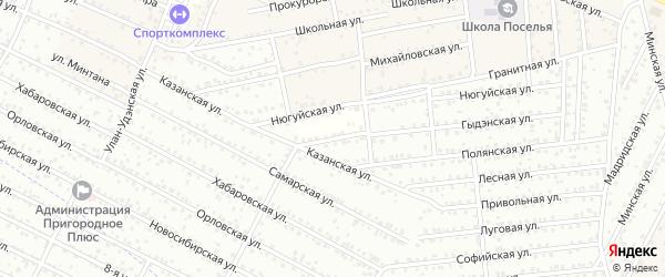 Улица Гыдэнская (ДНТ Бик) на карте села Поселье с номерами домов