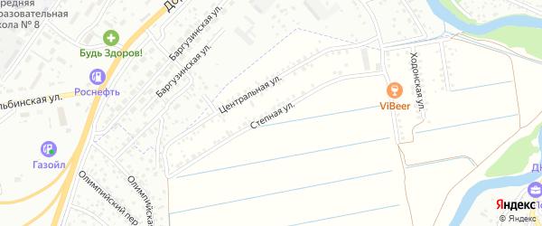 Степная улица на карте территории ДНТ Ургасы с номерами домов