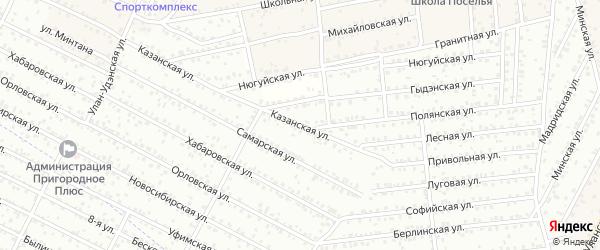 ДНТ Пригородное 2 Казанская улица на карте села Поселье с номерами домов