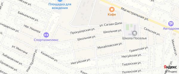 Школьная улица на карте села Поселье с номерами домов