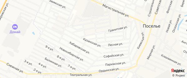 Территория ДНТ Бик на карте села Поселье с номерами домов