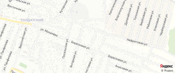 Нефритовая улица на карте территории ДНТ Туяа с номерами домов