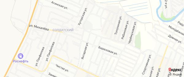 Территория ДНТ Туяа на карте Иволгинского района с номерами домов