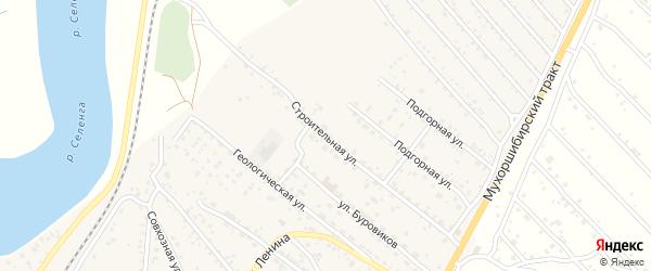 Строительная улица на карте села Нижнего Саянтуя с номерами домов