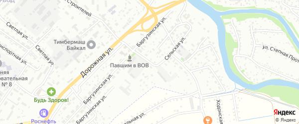 Сельская улица на карте Улан-Удэ с номерами домов