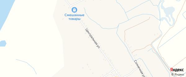 Центральная улица на карте поселка Сахарного Завода с номерами домов