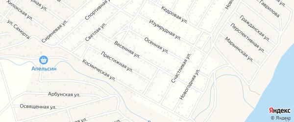 Улица Весенняя (ДНТ Рубин) на карте села Поселье с номерами домов
