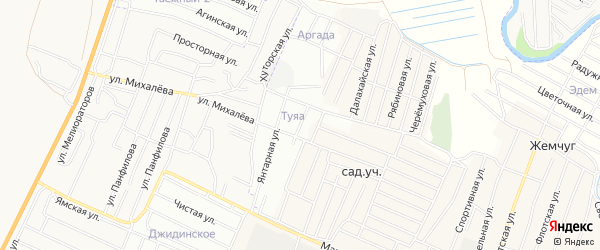 ДНТ Туяа Рубиновая территория на карте Иволгинского района с номерами домов