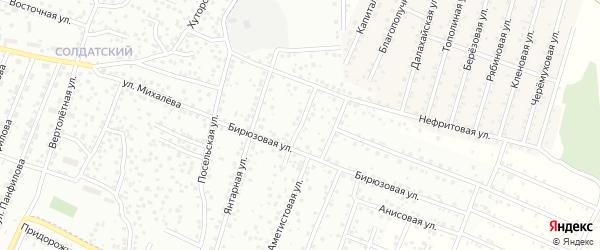 Рубиновая улица на карте территории ДНТ Сэсэг с номерами домов