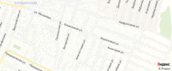 Изумрудная улица на карте территории ДНТ Туяа с номерами домов