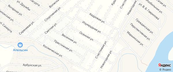 Осенняя улица на карте Улан-Удэ с номерами домов