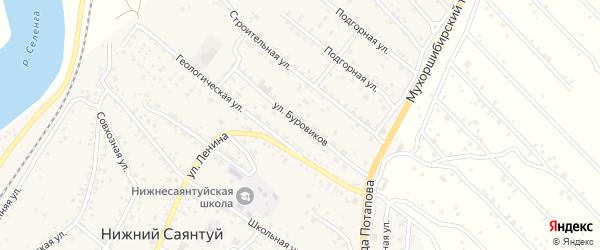 Улица Буровиков на карте села Нижнего Саянтуя с номерами домов