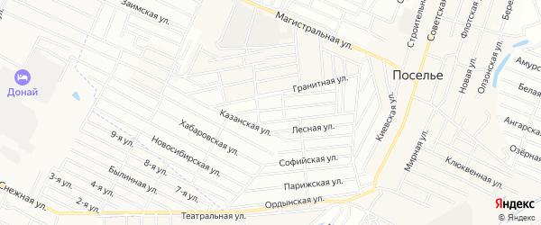 Территория ДНТ Удачный на карте села Поселье с номерами домов