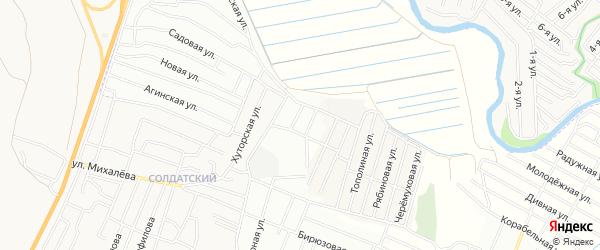 ДНТ Аргада Еловая территория на карте Иволгинского района с номерами домов