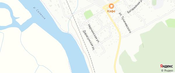 Дарасунская улица на карте Улан-Удэ с номерами домов