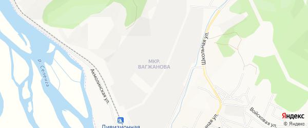 Карта поселка Вагжанова города Улан-Удэ в Бурятии с улицами и номерами домов