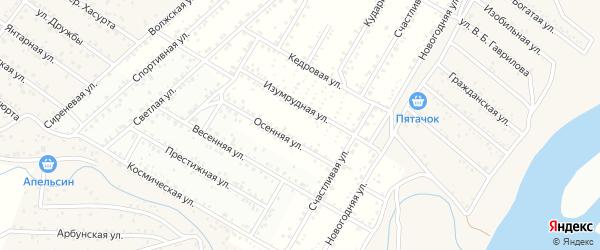 Территория ДНТ Подснежник на карте села Сужа с номерами домов