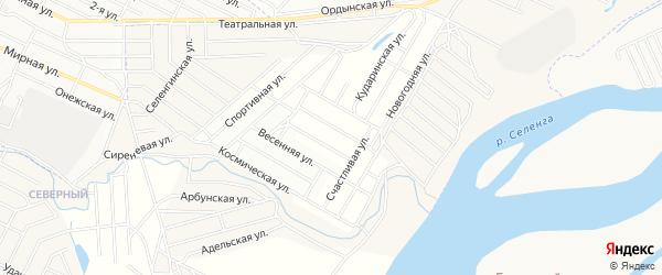 Территория ДНТ Подснежник на карте села Поселье с номерами домов