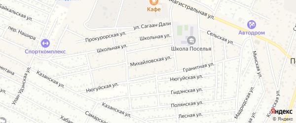 Михайловская улица на карте села Поселье с номерами домов
