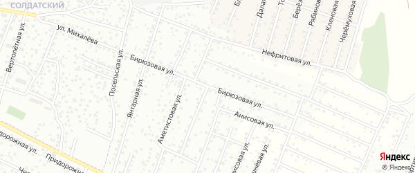 Бирюзовая улица на карте территории ДНТ Перспективы с номерами домов