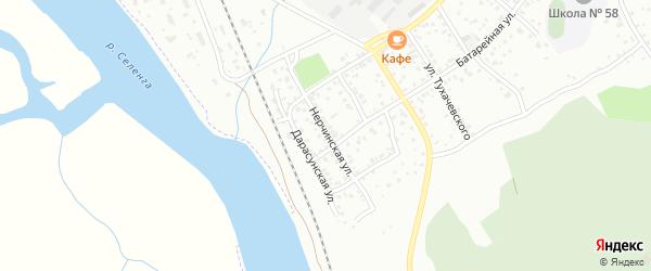 Нерчинская улица на карте Улан-Удэ с номерами домов