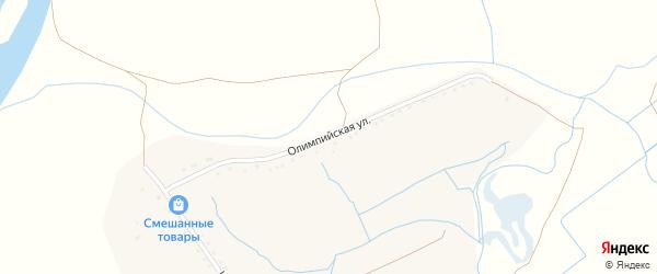 Олимпийская улица на карте поселка Сахарного Завода с номерами домов
