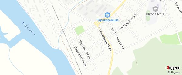 Понтонная улица на карте Улан-Удэ с номерами домов
