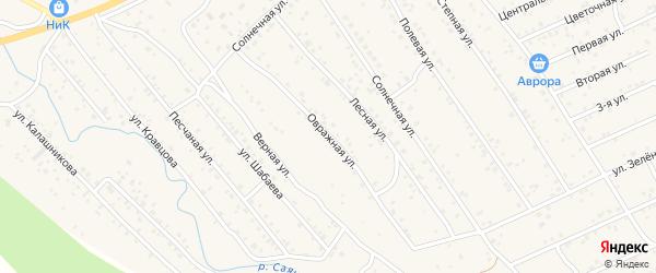 Овражная улица на карте села Нижнего Саянтуя с номерами домов