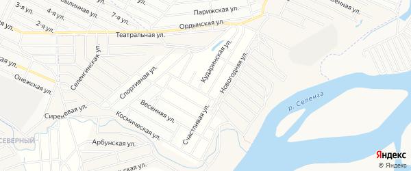 Территория ДНТ Рубин на карте села Поселье с номерами домов