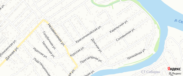 Донская улица на карте Улан-Удэ с номерами домов