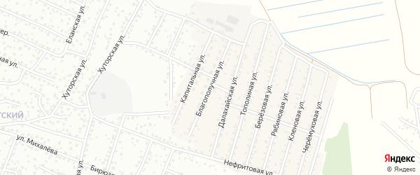 Благополучная улица на карте села Поселье с номерами домов