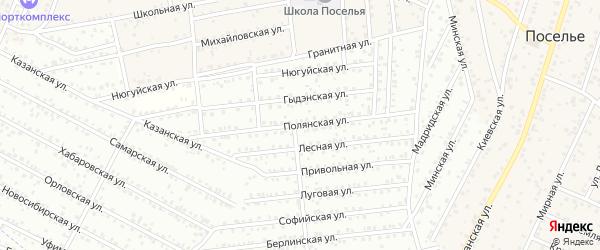 Полянская улица на карте Улан-Удэ с номерами домов