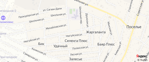 Гранитная улица на карте Улан-Удэ с номерами домов