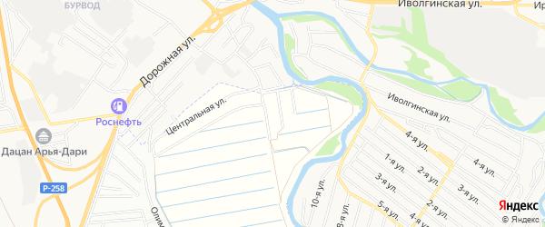Территория ДНТ Ургаса на карте села Поселье с номерами домов