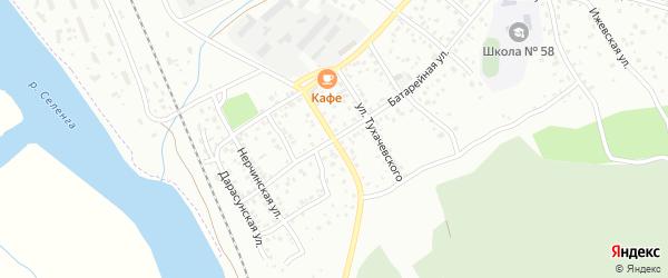 Сотниковская улица на карте Улан-Удэ с номерами домов