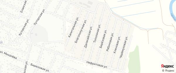 Далахайская улица на карте села Поселье с номерами домов