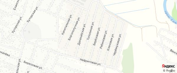 Тополиная улица на карте села Поселье с номерами домов