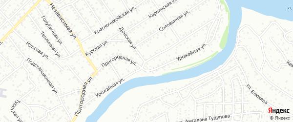Урожайная улица на карте Улан-Удэ с номерами домов