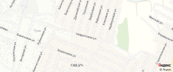 Нефритовая улица на карте села Поселье с номерами домов