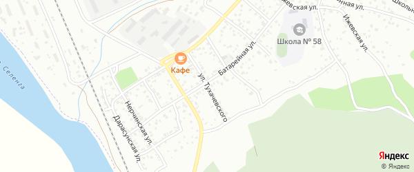 Улица Тухачевского на карте Улан-Удэ с номерами домов