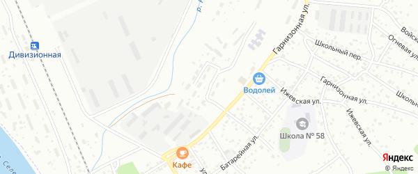 Дивизионная улица на карте Улан-Удэ с номерами домов