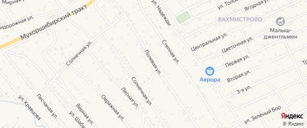 Полевая улица на карте села Нижнего Саянтуя с номерами домов