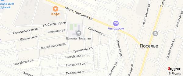 Дружная улица на карте села Поселье с номерами домов
