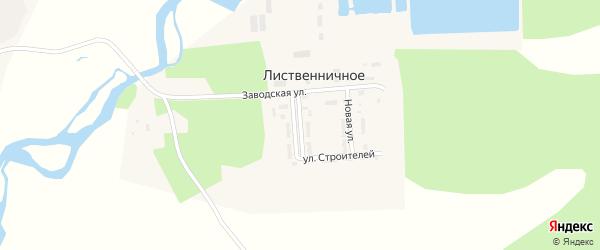 Солнечная улица на карте Лиственичного села с номерами домов