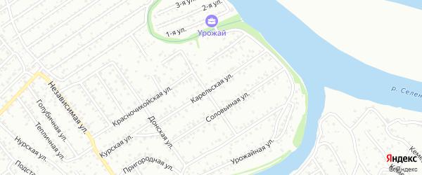 Карельская улица на карте Улан-Удэ с номерами домов