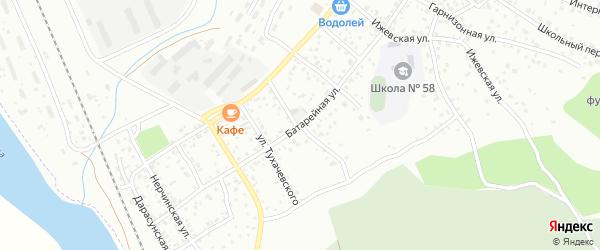 Батарейная улица на карте Улан-Удэ с номерами домов