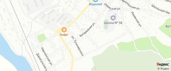 Черемховская улица на карте Улан-Удэ с номерами домов