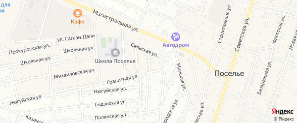 Полевая улица на карте села Поселье с номерами домов